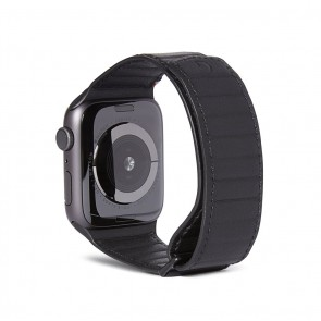 Decoded Leather Magnetic Traction Strap Series 5 / 4 (44mm) / 3 / 2 / 1 (42mm) Black