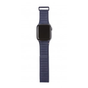Decoded Leather Magnetic Traction Strap Series 5 / 4 (44mm) / 3 / 2 / 1 (42mm) Blue