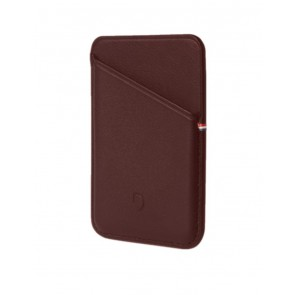 Decoded MagSafe Leather Card Sleeve Wallet Brown
