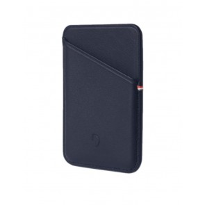 Decoded MagSafe Leather Card Sleeve Wallet Navy