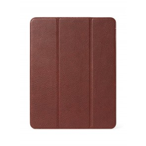 DECODED Leather Slim Cover for iPad Mini 6th Gen Chocolate Brown