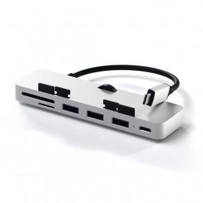 SATECHI Aluminum Type-C Clamp Hub Pro Silver