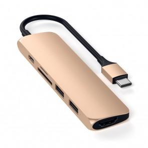 SATECHI TYPE-C Slim Multiport Adapter V2 Gold