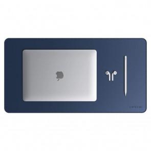 SATECHI Eco Leather Desk Mat Blue