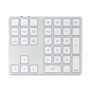 SATECHI Bluetooth Wireless Extended Keypad Silver