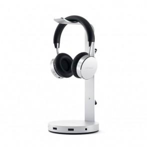 SATECHI Aluminum Headphone Stand Hub Silver
