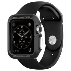 Spigen Apple Watch 42mm Rugged Armor Case Black