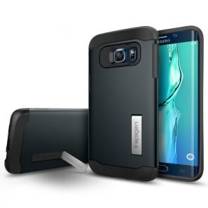 Spigen  Galaxy S6 Edge Plus Case Slim Armor Metal Slate