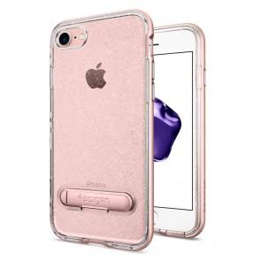 Spigen iPhone 7/8 Crystal Hybrid Glitter Rose Quartz