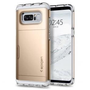 Spigen Samsung Galaxy Note 8 Crystal Wallet Champagne Gold