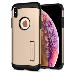 Spigen  iPhone XS/X Case Slim Armor Champagne Gold