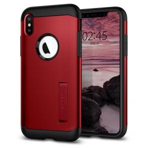 Spigen  iPhone XS Max Case Slim Armor Merlot Red