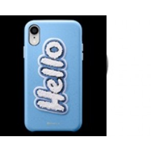 CYRILL  iPhone XR Case DTLA Series Hello SKY Light Blue