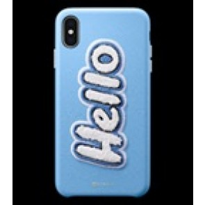 CYRILL  iPhone XS Max Case DTLA Series Hello SKY Light Blue