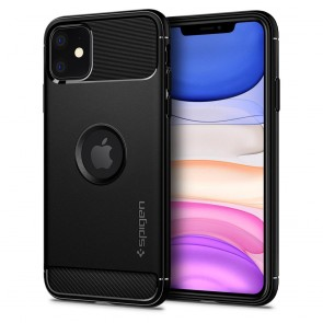 Spigen iPhone 11 Rugged Armor Case Matte Black