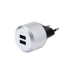 Just Mobile AluPlug 2 port USB Wall Charger EU