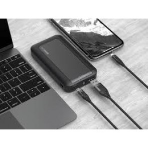 GeoSWISS G5 12000mah Universal Power Pack with HyperCharge Power Delivery Black/Gunmetal