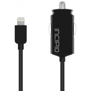 Incipio IP-693 Ultra Compact Auto Charger - 2.1A with Captive Cable for iPhone 5 - Retail Packaging - Black