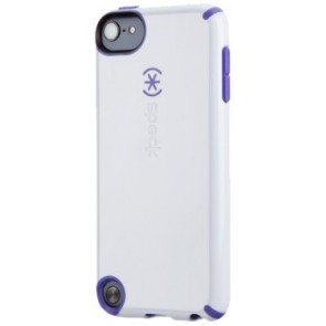 Speck Products Glossy CandyShell Case for iPod Touch 5 (White/Grape Purple)