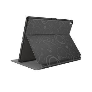Speck iPad 9.7-Inch (2017), 9.7-Inch iPad Pro, iPad Air 2 Balance Folio Print - Bikeparts Black/Ash Grey
