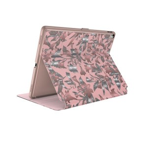 Speck iPad 9.7-Inch (2017)/6th Gen, 9.7-Inch iPad Pro, iPad Air 2 Balance Folio Print - Lillymodern Rose Gold/Crepe Pink/Cathedral Green