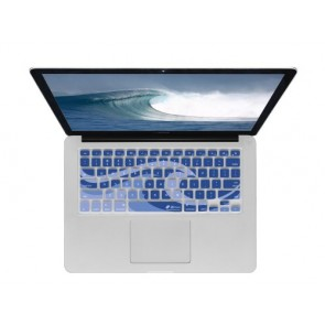 KB Covers Keyboard Cover for MacBook/Air 13/Pro (2008+)/Retina - Ocean Waves (WAVES-M-CC)