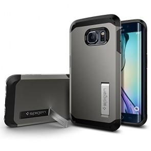 Galaxy S6 Edge Case, Spigen [HEAVY DUTY] Tough Armor Case for Samsung Galaxy S6 Edge [EXTREME PROTECTION] - Gunmetal (SGP11430)