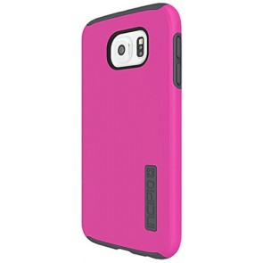 Incipio DualPro Carrying Case for Samsung Galaxy S6 - Retail Packaging - Pink/Charcoal