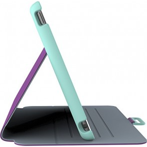Speck Products StyleFolio Case and Stand for iPad mini 4, Acai Purple/Aloe Green (71805-C256)