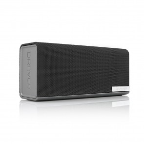 Braven 1100 Portable Bluetooth Speaker - Silver/Dark Gray