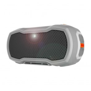 BRAVEN READY PRO Outdoor Waterproof Speaker - Gray/Gray/Orange