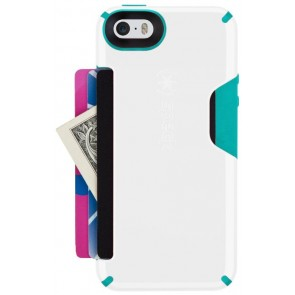 Speck iPhone 5c CandyShell Card White/Caribbean Blue