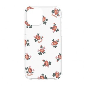 Coach Protective Case for iPhone 12 mini - Floral Melon Multi/Clear/Glitter Accents