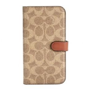 Coach Folio Case for iPhone 12 mini - Signature C Khaki