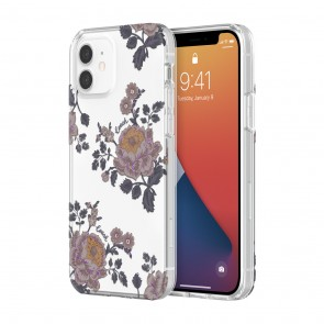Coach Protective Case for iPhone 12 mini - Moody Floral Multi/Clear/Glitter Accents