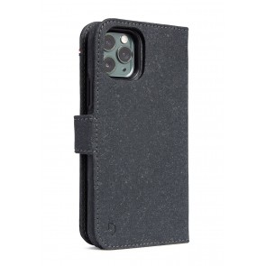 Decoded Recycled Leather Detachable Wallet iPhone 11 Pro (5.8 inch) Antracite