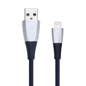 Just Mobile ZinCable USB Lightning Charging Cable 5 ft/1.5m Silver