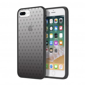 Diesel Printed Co-Mold Case for iPhone 8 Plus, iPhone 7 Plus, iPhone 6/6s Plus - Mohican Head Dot Black/Clear/Ombre