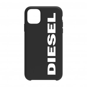 Diesel Printed Co-Mold Case for iPhone 11 - Soft Touch Black/White Vertical Logo