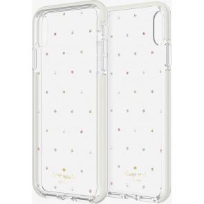 kate spade new york Defensive Hardshell Case (1-PC Comold) for iPhone X/Xs - Pin Dot Gems/Pearls/Clear