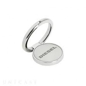 Diesel Universal Ring Stand - Silver Mirror Etched Diesel Logo Silver Alloy