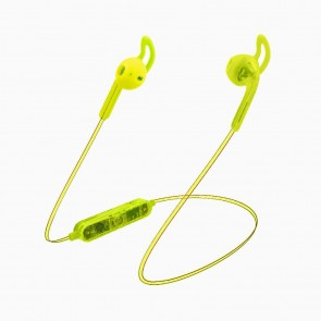 Candywirez Wireless Flat Translucent Ear Buds - Neon Yellow