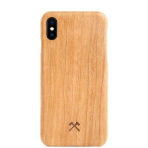 Woodcessories EcoCase- SLIM Series - Cherry/Aramid Fibres for iPhone Xs Max