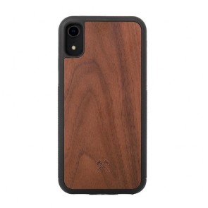 Woodcessories EcoCase - EcoBump - Walnut/Black TPU Softcase for iPhone Xr