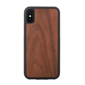 Woodcessories EcoCase - EcoBump - Walnut/Black TPU Softcase for iPhone X/Xs