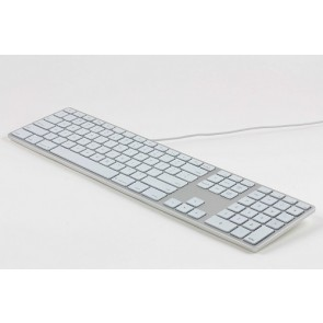 Matias RGB Backlit Wired Aluminum Keyboard for Mac - Silver