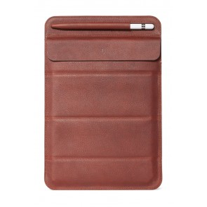 Decoded Leather Foldable Sleeve for iPad up to 11 inch Brown Oak