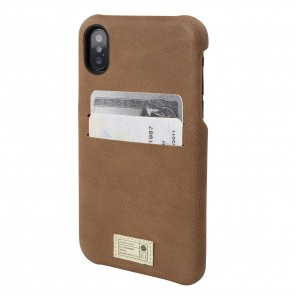 HEX SOLO WALLET FOR iPhone X BROWN LEATHER