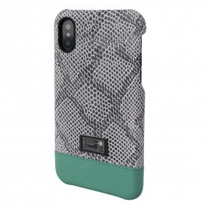 HEX FOCUS CASE FOR iPhone X SNAKE/TEAL LEATHER