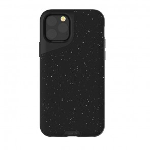 Mous iPhone 11 Pro Max Contour Case  Speckled Black Leather
